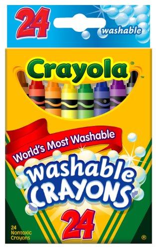 Crayola Washable Crayons-24/Pkg, Baby & Kids Zone