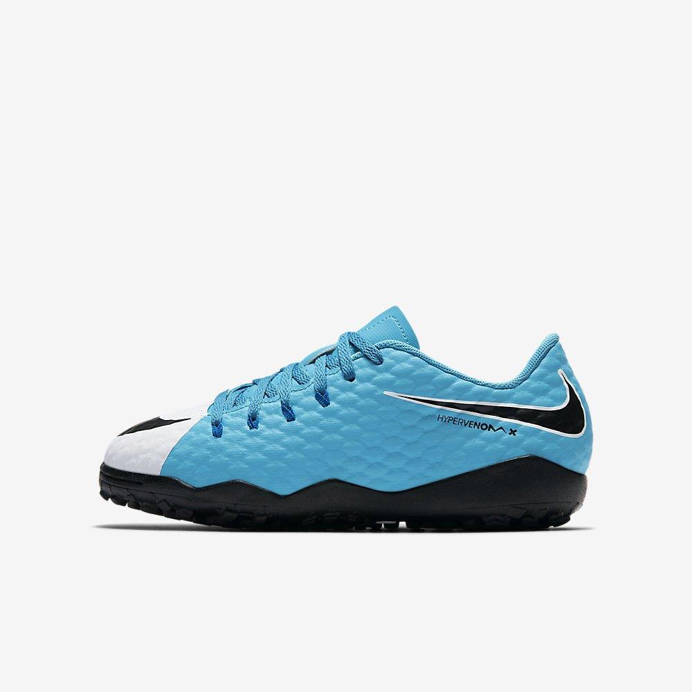 Nike Youth Hypervenomx Phelon III Turf Shoes [WHITE] (10C)