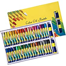 Hapree 36 Colors Art Oil Pastels Set, Non Toxic Oil Paint Sticks for Artists, Adults and Kids
