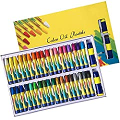 Magicdo 36 colors artistic oil painting stick is easy to use for artists of all ages.  Product Includes: 36 Colors Oil Pastels Bonus:  2 Pieces Oil Pastels Extender 2 Pieces Sharpeners  Package Size: 10-3/4 x 3/4 x 7-3/16 inches Oil Pastel Lo...