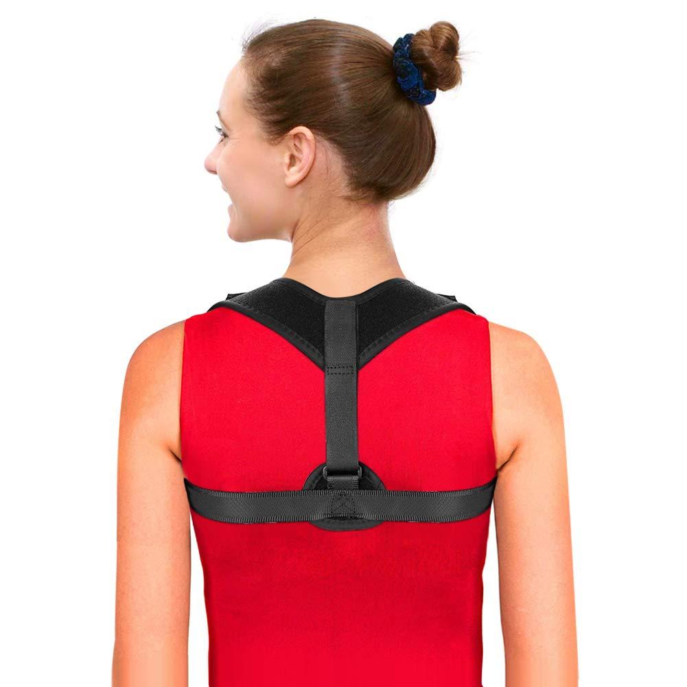 Posture Corrector, Back Brace for Men and Women, Adjustable Figure 8 Clavicle Support Posture Brace (Black)