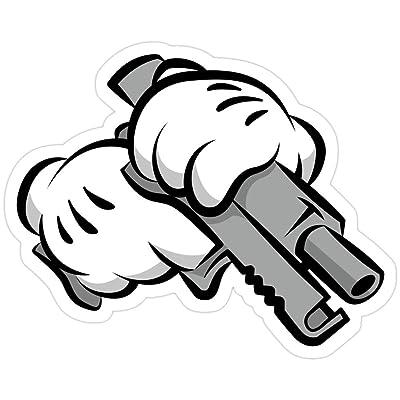 MrMint Gun Hands Stickers (3 Pcs/Pack): Kitchen & Dining