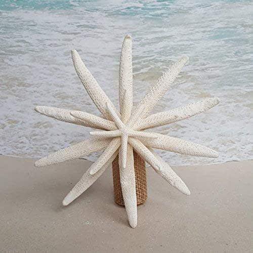 9-11 Blue Gray Starfish Blue Gray Beach Coastal Decor Nautical Star Fish Tree Topper Starfish Christmas Tree Topper
