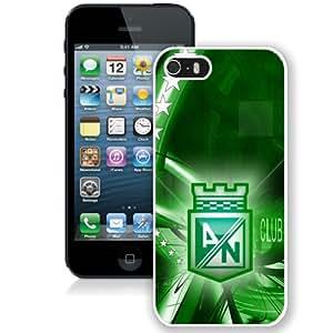 Atletico Nacional White Abstract Design Custom iPhone 5 5S Case
