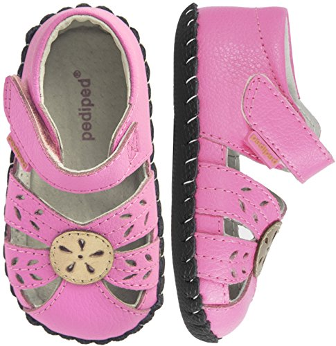Pediped Infant Shoes - pediped Girls' Daphne Flat, Pink Champagne, Small E/4-4.5 E US Infant