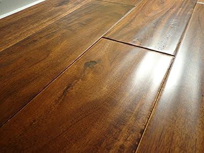 "Elk Mountain Acacia Toffee SOLID 4-3/4"" Hand Scraped Hardwood Flooring FH024 SAMPLE"