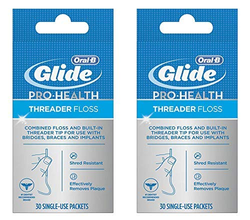 Oral-B Glide Pro-Health Threader Floss 30 Count (2 Pack)