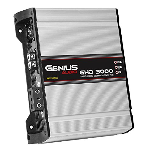Genius GLT-1000.1D 2000 Watts-MAX Mini Compact Car Amplifier Monoblock Class-D 1-Ohm Stable Aricasa