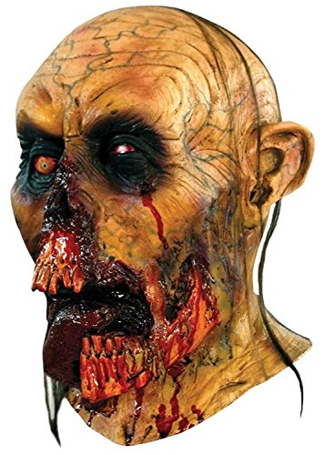 Scary Mask Zombie Realistic Adult Scary Masks For Halloween Full Over The Head Mask With Rotted Jaws and Tongue Hanging Out Latex Creepy Halloween (Very Scary Halloween Costumes)