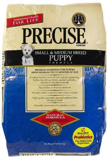 Precise 726005 Small/Medium Breed Puppy Dry Food, 30-Pound, My Pet Supplies