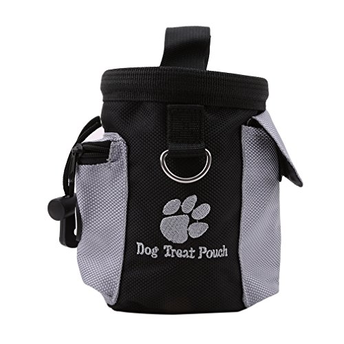 Myhouse Pet Dog Treat Pouch Dog Training Treat Bags Portable Detachable Doggie Pet Feed Pocket Pouch Puppy Snack Reward Waist Bag Pet Food Saver Cap