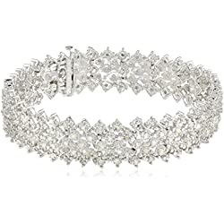 Sterling Silver 3 cttw Rose Cut Diamond Bracelet (3 Cttw, J Color, I3 Promo Clarity), 7.25""