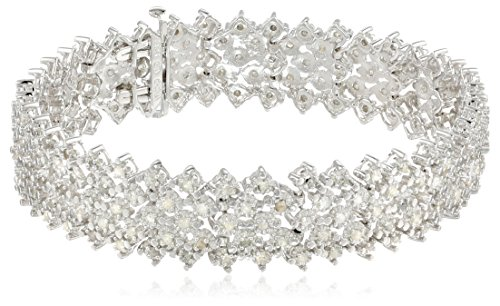 Sterling Silver 3 cttw Rose Cut Diamond Bracelet (3 Cttw, J Color, I3 Promo Clarity), 7.25