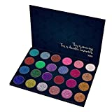 Kaidifangte 24 Color Colorful Makeup Shadows Professional Pressed Glitter Diamond Mineral Matte Shimmery Eye Shadow Palette Waterproof & Long-Lasting Glitter Eyeshadow Palette