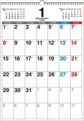 Amazoncojp 2018年 書き込み式 月曜始まり シンプル