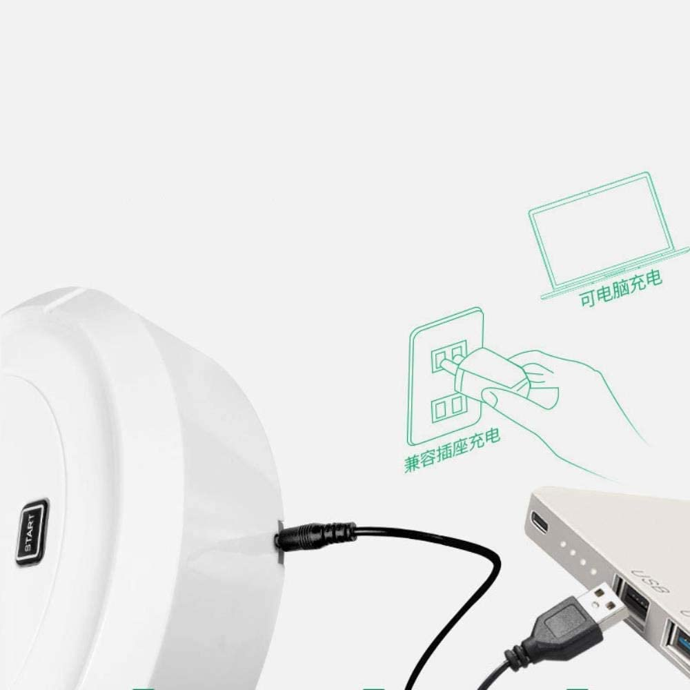 Chargement du robot de balayage, machine de nettoyage automatique maison, aspirateur intelligente ggsm (Color : White) White