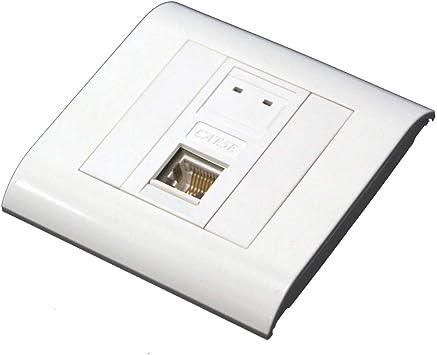 BeMatik - Caja de pared o canaleta de 80x80 con 1 RJ45 FTP Cat.5e 568B: Amazon.es: Electrónica
