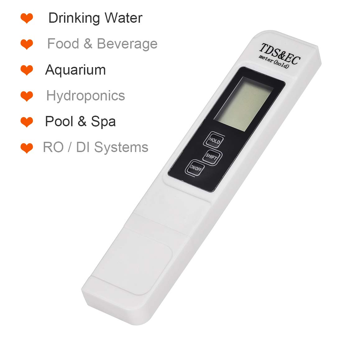 uxcell TDS-3 PPM Conductivity Meter Digital Tester for Ro Water Aquarium Pool Blue