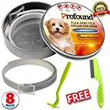 Dog Flea Treatment Collar - Flea Collars For Dogs, Dog Flea Collar with Free Flea Comb & Tick Remover, Dog Flea Collar, Best Natural Dog Flea Collar, All Natural Essential Oils, One Size Fits All, 8 Month Protection