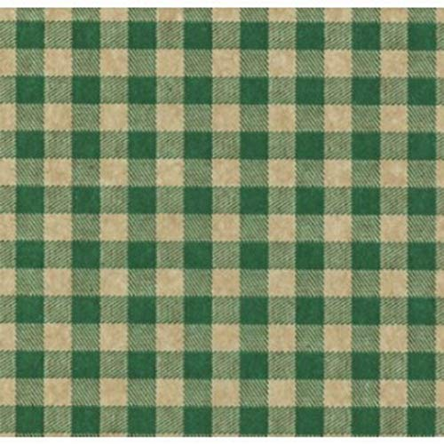 Green Gingham on Kraft Gift Tissue Paper- 30 Large Sheets
