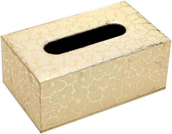 China Show Vintage Rectangular Tissue Holder Caja Decorativa Papel Facial Caso para Home Office Auto Automotive, Dorado: Amazon.es: Hogar