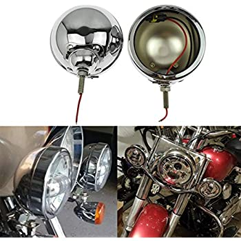 YHMTIVTU Motorcycle 4.5 Fog Lights Housing Bracket 4 1//2 LED Passing Light Mounts for Harley Honda Yamaha Kawasaki Triumph,Chrome