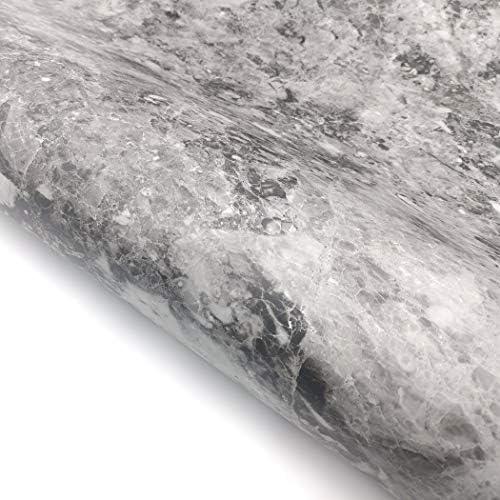RoyalWallSkins 大理石シート 多用途 リフォーム 壁紙シール インテリア 防水 マット 大理石柄 ブラック (MCP1155MT: 61cm x 200cm)