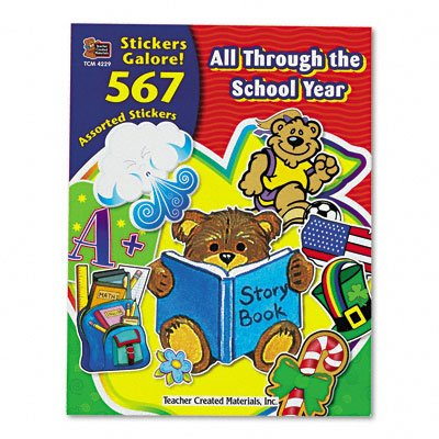 Teacher Created Resources 4229 Sticker Book, All Through the School Year (Pack of 567) (Stickers 567)