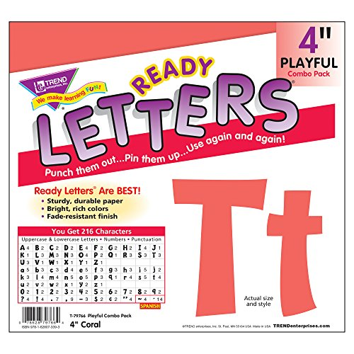 Trend Enterprises Playful Combo Pack Ready Letters, 4