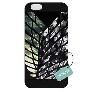 Onelee(TM) - Customized Attack On Titan iPhone 6 Plus 5.5 Hard Plastic case cover - Black 12