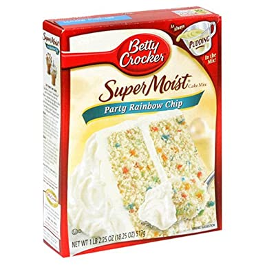 Betty Crocker Super Moist Rainbow Chip Cake Mix 432g 15oz