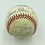 Willie Mays Hank Aaron Erine Banks 500 Home Run Club Signed Baseball JSA COA