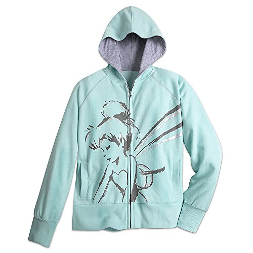 Disney Tinker Bell Hoodie for Women Size LADIES S Blue