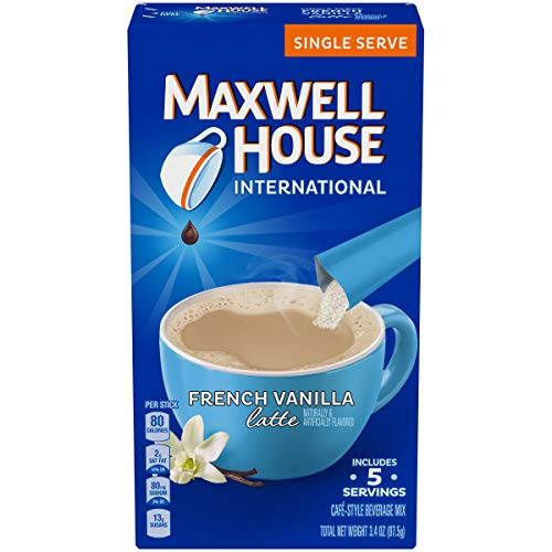 Maxwell House International Cafe Instant French Vanilla Latte (40 Count, 8 Packs of 5)