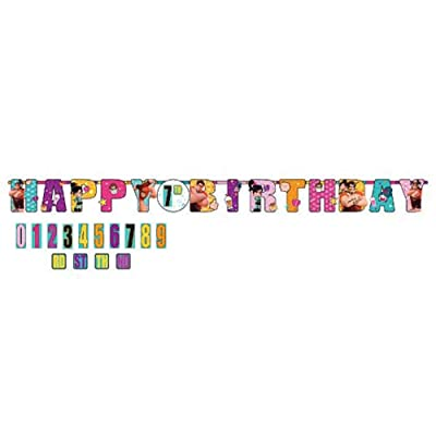 Wreck-It Ralph 'Ralph Breaks the Internet' Jumbo Letter Banner Kit (1ct): Toys & Games