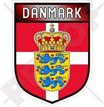 DÄNEMARK Dänisch Stoßstange Helm 50mm Vinyl Sticker Aufkleber x4