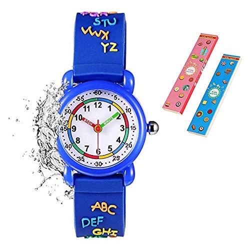 Toddler Kids Children Watch,3D Cute Cartoon Silicone Band Wristwatches Time Teacher Gifts Watches for Kids Girls Toddlers (Target Kids Watches)