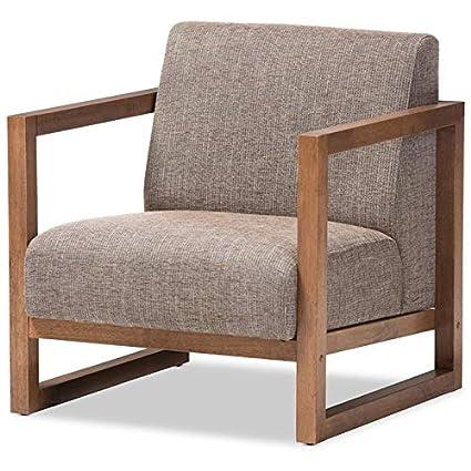 Amazon.com : Baxton Studio Valencia Reception Chair in Gray ...