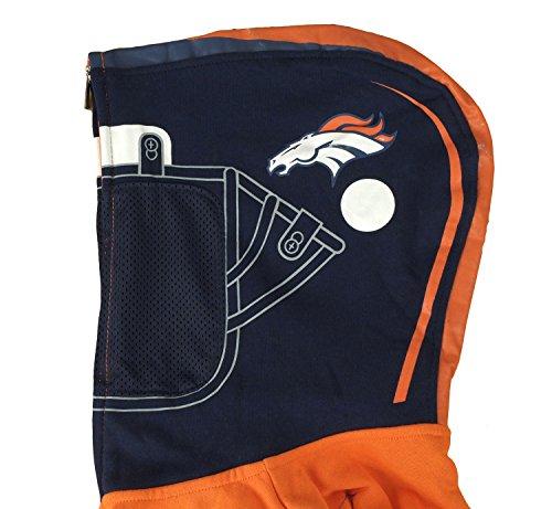 c1e57146c NFL Denver Broncos Big Boys Youth Full Zip Helmet Masked - Import ...