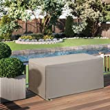 Outdoor Patio Durable Waterproof Furniture Storage Deck Box Cover Rectangular