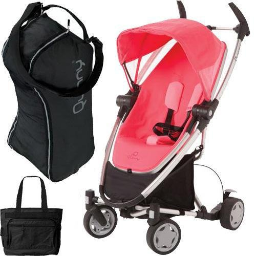 Quinny Zapp Xtra with diaper bag and Travel Bag- Pink ()