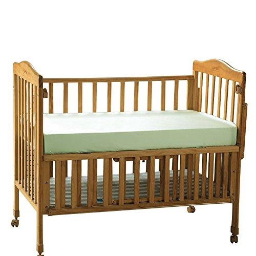 "THXSILK Pure Silk Fitted Crib Sheets, Organic Baby Crib Bedding-Ultra Soft, Smooth, 100% Top Grade Mulberry Silk, 28"" x 52"" x 8"", Boy, Green -  TAIHU SNOW, W01W01604X"