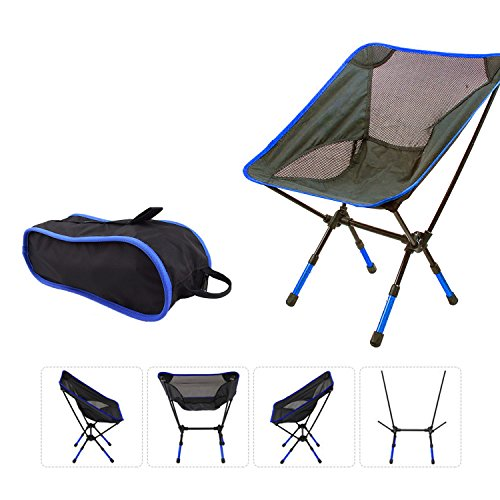 Suyi Hi Portable Lightweight Heavy Duty Folding Outdoor Picnic Beach Travel Fishing Camping Chair Stool Backpacking Chairs,Durable 600D Thicken Oxford Cloth,Sturdy Aluminum Alloy Frame,with Carry Bag ()