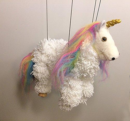(None Unicorn Marionette Puppet MUN16-4)