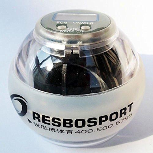 Super Gyro (Resbo RBNC LED Flashing Counter Sport Power Wrist Ball Super GYRO Outdoor Power)