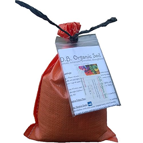 Compost Composter Manure (Premium Organic Worm Castings by Dirty Bil's. Best Plant Food and Fertilizer for your Flowers, Garden, Pots, or Lawn. Pure 4 LB Bag to Treat 40 Sq. Feet. Odor-Free, Non-Toxic, and 100% Organic!)
