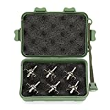 Jianuo 6pcs 100 Grain Target Points Archery Broadhead for Small Game with Case
