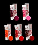 SKINAZ The Kissable Lip tint pack 24H long lasting lip tattoo pack (5 Packs)