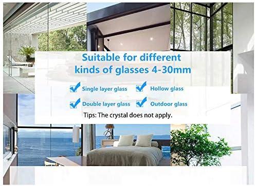 Double latérale magnétique nettoyant pour vitres, réglable magnétique double vitrage Wiper Glider lave-linge équipement de nettoyage brosse outils d'essuie-glace pour High-rise vitrage épaisseur 4-30m - Home Robots