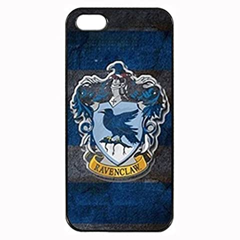 Harry Potter Ravenclaw Crest Custom Image Special Designed for Apple iphone 5 5s phones case,Black Silicone Rubber TPU iphone5 5s Case (5s Cases Special)